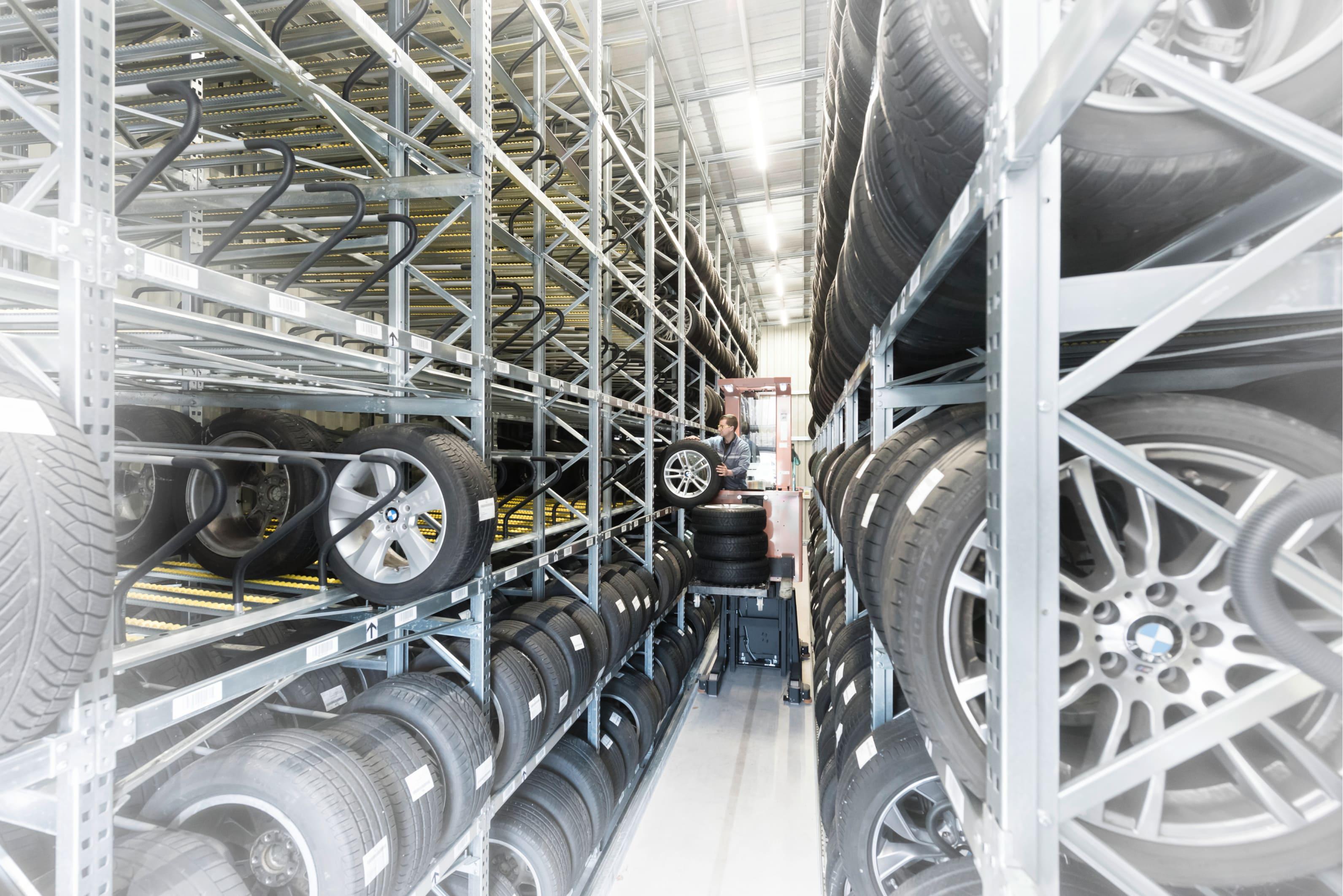 Därför är mobila däckställ perfekta för att lagra däck
